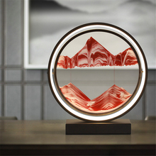 Postmodern Sand Painting Led Table Lamp Bedroom Bedside Lighting Table Lamps Living Room Rotatable European Cafe Lights Fixtures