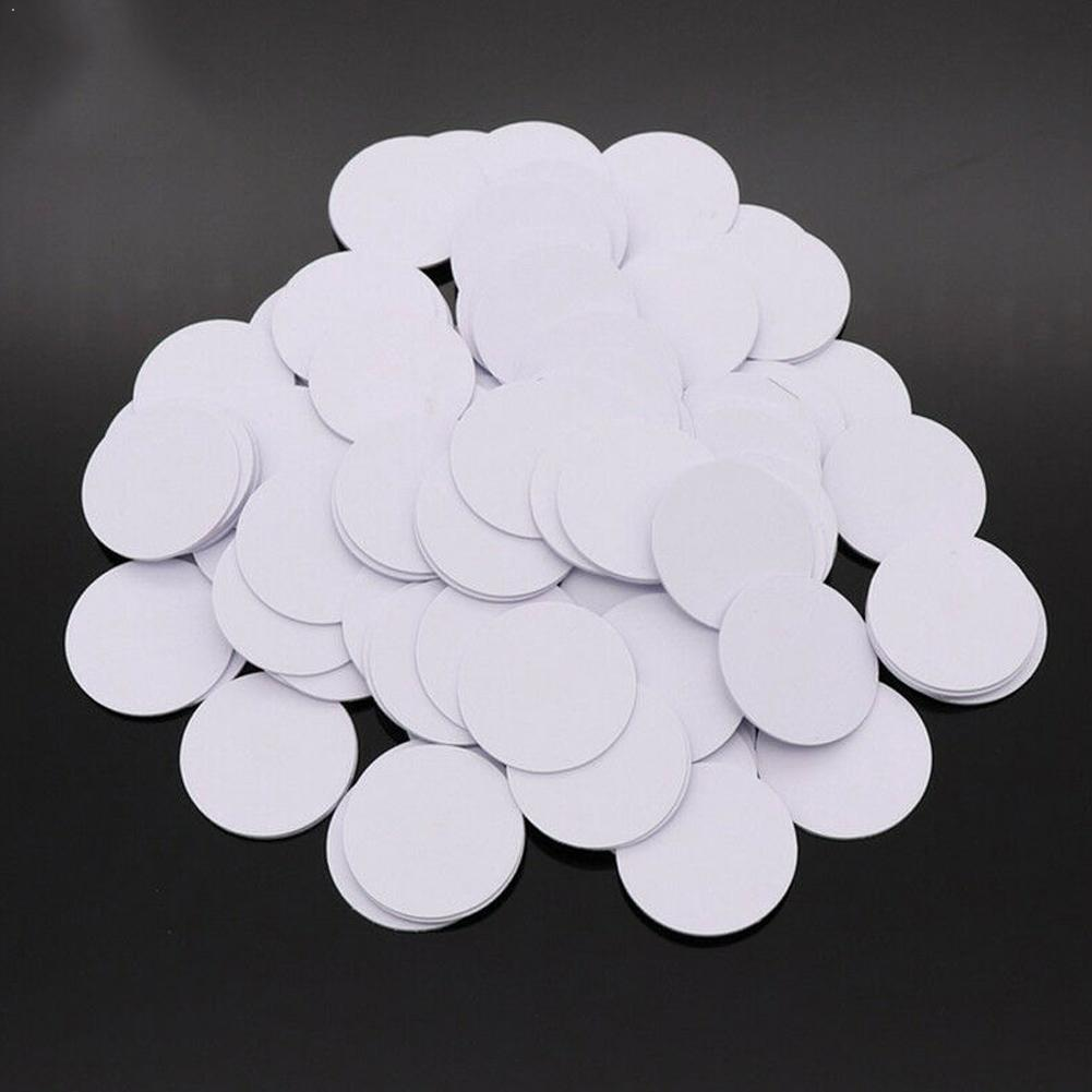 10/20/50PCS Ntag215 NFC Tags Phone Available Adhesive RFID Phone Shaped For All NFC-enabled 25mm Labels Round Tag NFC Card X2S0