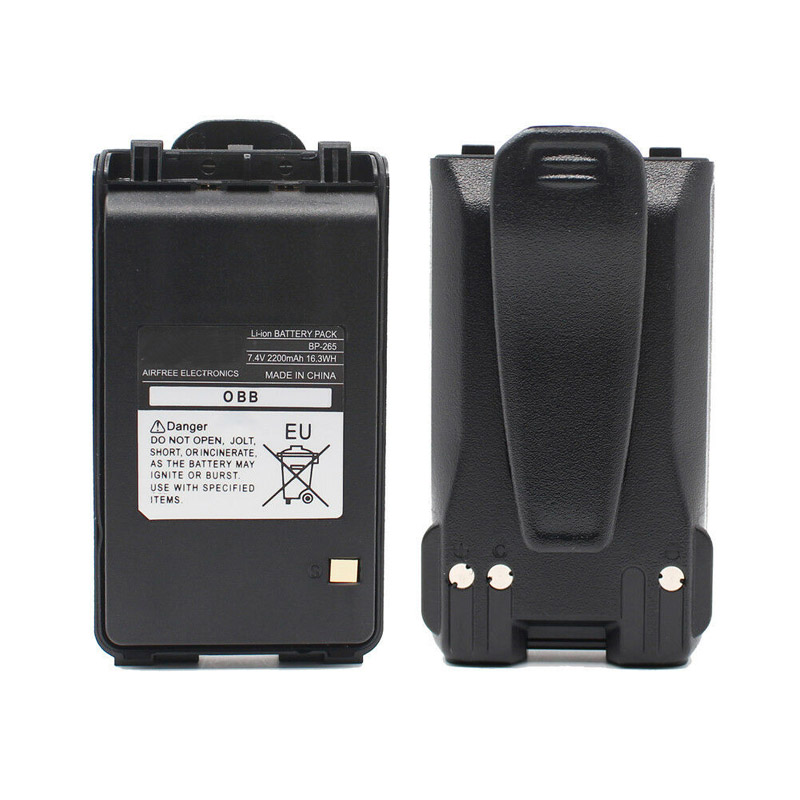 BP-265 BP265 <font><b>7.4V</b></font> <font><b>2200mAh</b></font> Li-ion <font><b>Battery</b></font> For ICOM IC-V80 IC-V80FX F4001 F3101D T70A T70E IC-F3001 F3002 F3003 F3008 Radio image