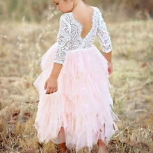 Princess Infant Baby Girl Dress Sexy Backless Cute Fashion Clothing For Children 2021 New Summer Lace Patchwork Stitching Dress