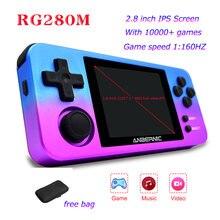 Rg280m ретро портативные игровые консоли 28 дюймов ips Экран