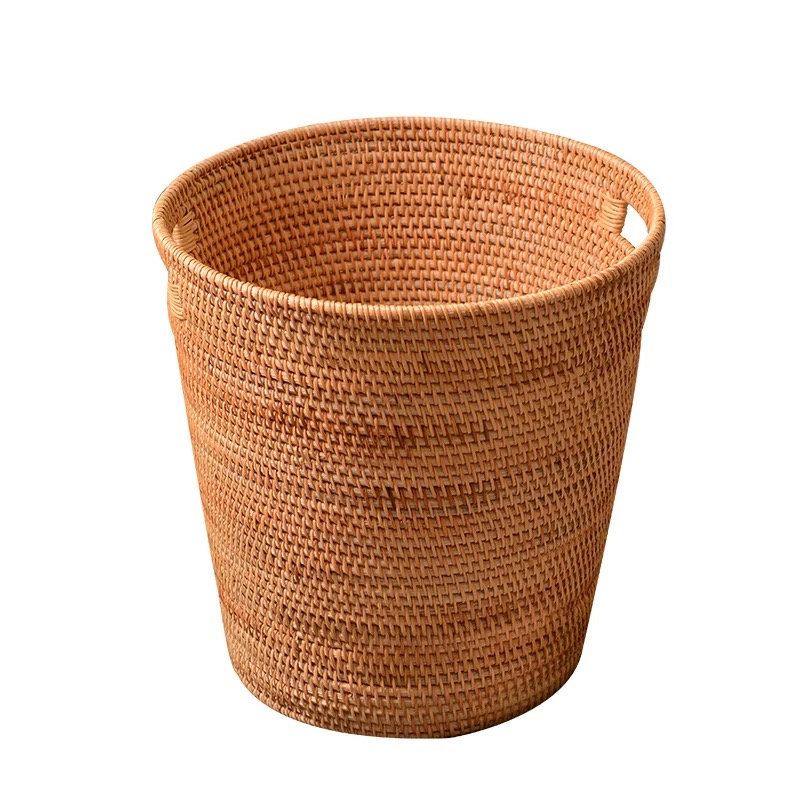 Rattan Laundry Basket Dirty Clothes