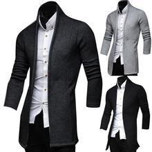Мужской винтажный Блейзер, пальто, вязаный воротник-стойка, деловой стиль, пиджаки, повседневные куртки, Мужской приталенный пиджак, пиджак