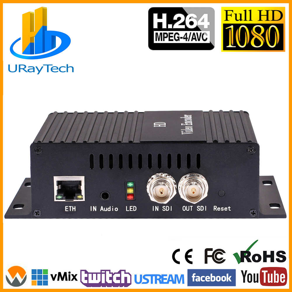 MPEG4 H.264 AVC SD HD 3G SDI To IP Encoder SDI Video Streaming Encoder Decoder Transmitter With HTTP RTSP RTMP UDP ONVIF HLS Etc