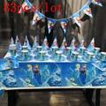 83Pcs Disney Gefrorene Thema Tasse Platte Serviette Kid Birthday Party Dekoration Party-Event Liefert Favor Artikel Für Kinder 10 menschen verwenden