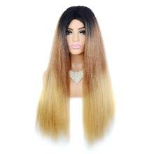 Jeedou yaki прямые волосы парик длинный стиль синтетические