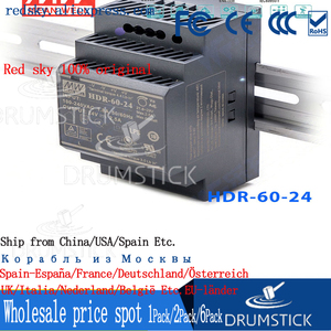 Image 5 - Sabit ortalama kuyu HDR 60 24 24V 2.5A meanwell HDR 60 60W tek çıkışlı endüstriyel DIN ray güç kaynağı [Hot6]