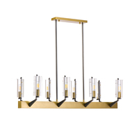 nordic design dinning room  LED chandeliers  glass lamp AC110v 220V gold bar hanging lights|Chandeliers|   -