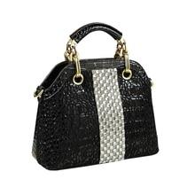 ICEV new Brand crocodile pattern Handbag luxury lace diamond leather women's han