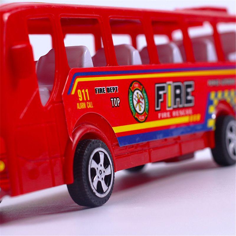 Bus de Police incendie pionnier 19cm tirez les voitures inertielles enfants bébé jouet cadeau Diecasts voiture modèle F42E
