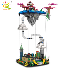 HUIQIBAO 1116pcs Myths Moon Guanghan Heavenly Palace Building Blocks Legends Castle Architecture Brick Set City Toy For Children