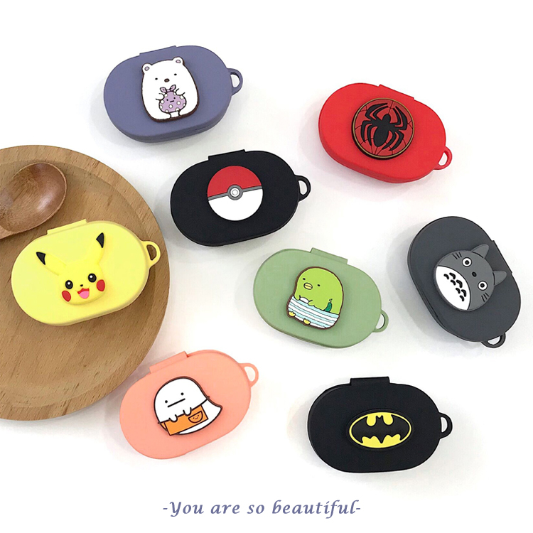 Cartoon Cute Earphone Cover For Redmi Airdots Case With Hook Protection Frame For XiaoMi Airdots Earphone Cases