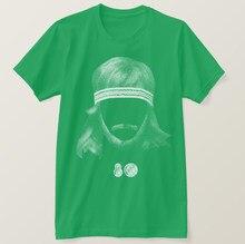 T-Shirt manches courtes pour homme et femme, en coton, avec impression, coiffure 80, 2020