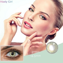 Eye-Contacts Lenses-Eyes Cosmetics Makeup Pupil Fresh-Series Beauty Halloween Green-Color