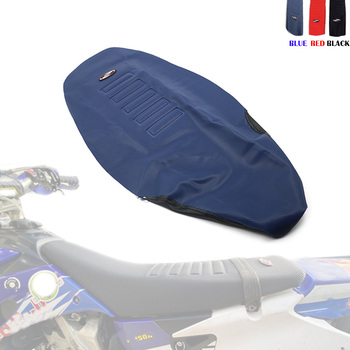 Motorcycle Gripper Soft Seat Cover Non-slip Diamond Pattern Stretchy Waterproof For KTM 125-450 SX SXF EXC XC-W HONDA CRF250R
