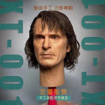 XT001 JK03 1 6 Clown głowy rzeźba Model Joker Joaquin głowy Sculpt przeszczep włosów Fit 12 cal mężczyzna żołnierz figurka lalki tanie i dobre opinie 7-12y CN (pochodzenie) Unisex not real PIERWSZA EDYCJA Wyroby gotowe FS-001 Zachodnia animacja Produkty na stanie Film i telewizja