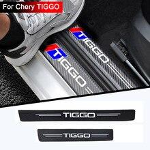 4 шт., наклейки на пороги автомобиля из углеродного волокна для CHERY TIGGO 3 4 5 7 PRO 8