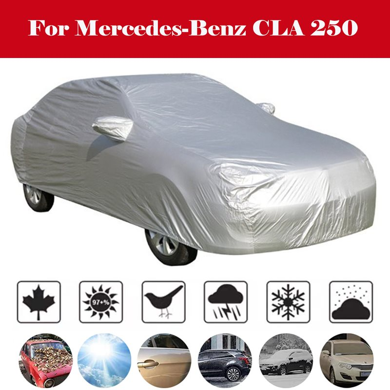 Waterproof Car Cover Outdoor Sun Shade Snow Rain Protection Dust Proof Cover For Mercedes-Benz CLA 250