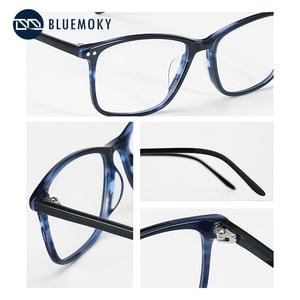 Image 3 - BLUEMOKY Semi Oval Fashion Eyeglasses Anti Blue Ray Spectacles Photochromic Glasses Prescription Glasses Eyewear 2019 BT3021