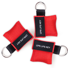 3Pcs First Aid CPR Mask Keychain Emergency CPR Resuscitators Mask Breathing Face Shield Health Care Artificial Breathing Tools