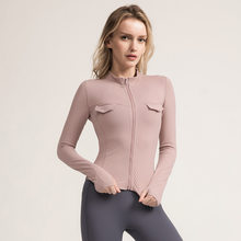 Women Seamless Yoga Shirts Zipper Long Sleeve Shirts Gym Training Fitness Workout Running Sport Yoga Sportswear Running Clothes(China)