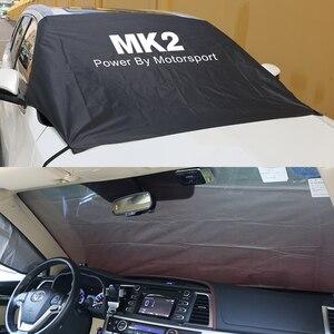 Image 2 - Auto Windschutzscheibe Schnee Eis Staub Block Wasserdichte Sonnenschutz Protector Abdeckung Für Ford Focus MK1 MK2 MK3 MK4 2 3 1 4 Auto Zubehör