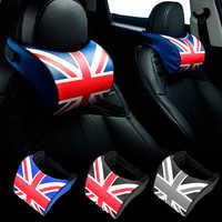 Soporte para cabeza de coche de PU PP, almohada de algodón para el cuello, para asiento trasero de coche, para BMW MINI Cooper One S JCW Countryman, 1 Uds.