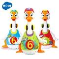 HOLA 828 Elektronische Musical Spielzeug für Kleinkinder 13 24 monate Hüfte Hop Schaukel Gans Spielzeug für Infant Tanzen Ente spielzeug für Kinder Jungen-in Elektronische Tiere aus Spielzeug und Hobbys bei