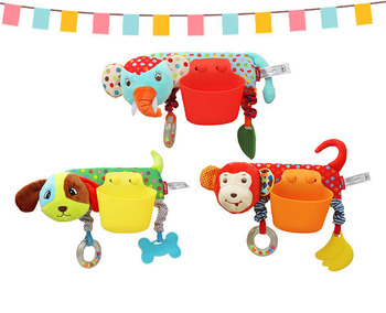 0-12 Months Baby Soft Animal Plush Toy Baby Elephant Rattles Mobile Hanging Stroller Bell Baby Toys Crib Rattle Hanging Pocket adorable baby rattles plush crib stroller infant baby pram striped cute rattle hanging rabbit bear animal toy