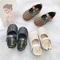 Обувь для девочек на мягкой подошве; детская обувь из искусственной кожи для девочек; Новинка 2019 года; 2 цвета; Повседневная вязаная обувь пр...