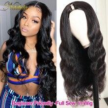 Nadula Hair 3X1 парик U-образной формы, человеческие волосы, волнистые, без клея, человеческие волосы, парики, бразильские натуральные волосы, невид...