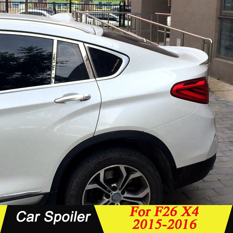 High Quality ABS Plastic Rear Trunk Wing Roof <font><b>Spoiler</b></font> For <font><b>BMW</b></font> <font><b>F26</b></font> X4 <font><b>Spoiler</b></font> 2015 2016 image
