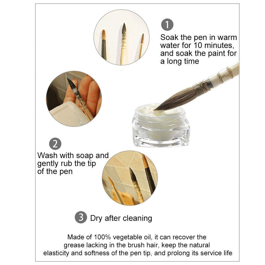 5g Paintbrush maintenance Cleaning Agent Watercolor Paint cleaner brush Transparent Student Artist Supplies Y6K9