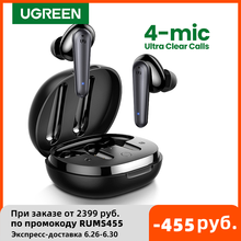 UGREEN HiTune T1 Wireless Earbuds with 4 Mics TWS Bluetooth 5.0 Earphones True Wireless Stereo USB C Charging 24 Hours Playing