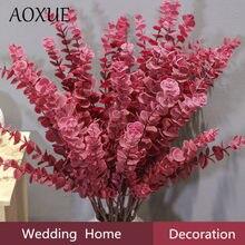 80cm simulação sonho eucalipto folha decoração de casamento plantas parede com grama casa sala estar jardim decoração falso flores