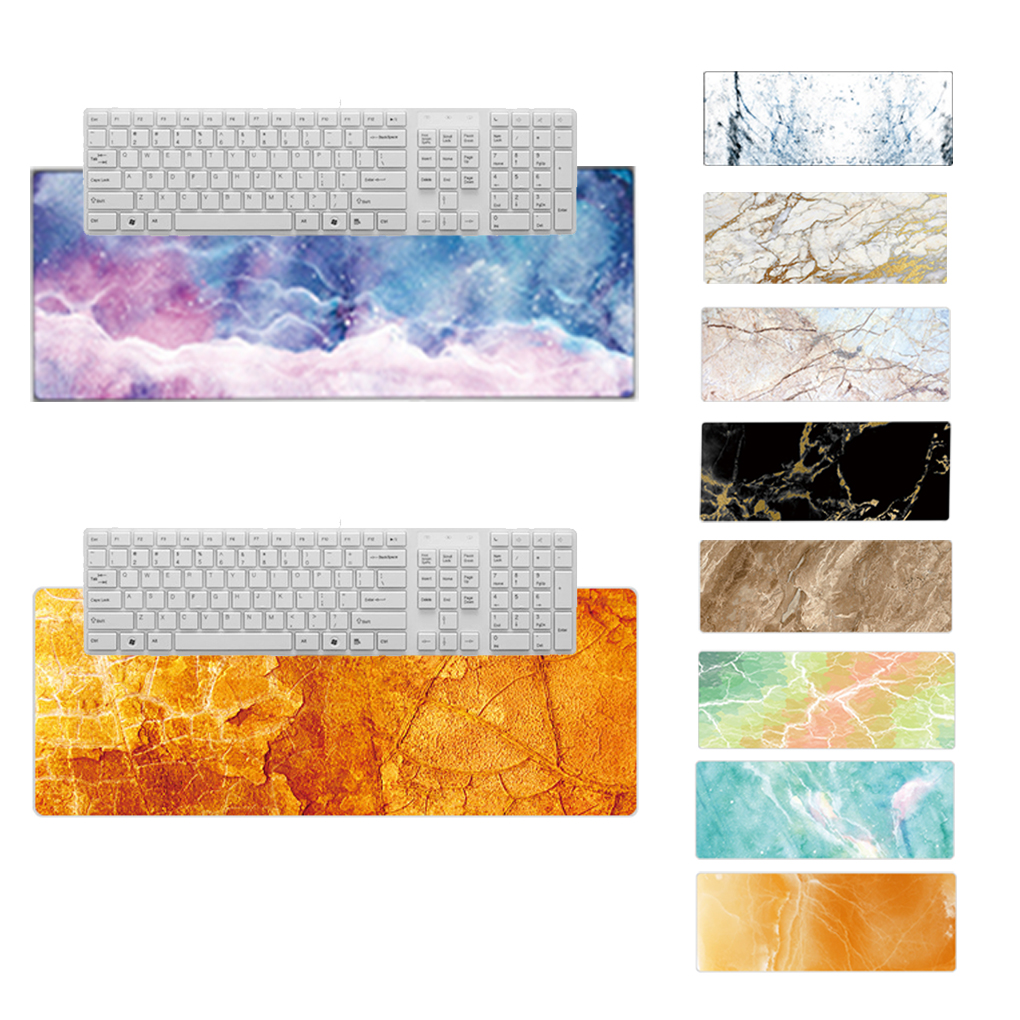 Extra Large Mouse Pad Marble Extended Computer Mouse Pad Non-Slip Non-Stitched Edges Keyboard Desk Mat