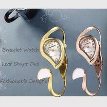 Watch Luxury Montre Quartz-Clock Women Bracelet Design Reloj Brand Lady Mujer Leaf-Shape