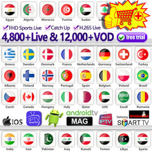 Europe IPTV Subscription France Dutch Spain Portugal Code for M3U Android IP TV Arabic Canada Belgium Italy