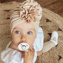2021 NEW Bloom Flower Baby Headband Knot Toddler Headwrap Elastic Infant Turban Bullet Fabric Infant Beanie Cap Hair Accessories cheap Elhacyz CN(Origin) Acrylic COTTON Spandex Headbands Unisex Four Seasons Solid Children Decorate Casual MZ001 TDNL082 Spring2021