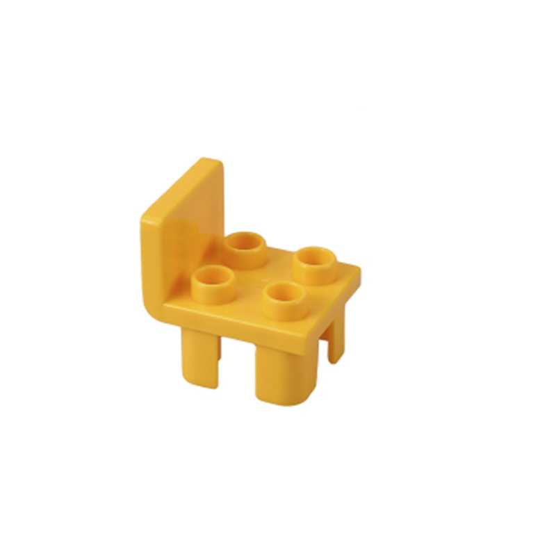 Duplo klocki budowlane miasto dzieci prezenty duże rozmiary zwierzęta świat bananowe zabawki świnki na krzesło dla dzieci zestaw stołowy kompatybilny Duploed