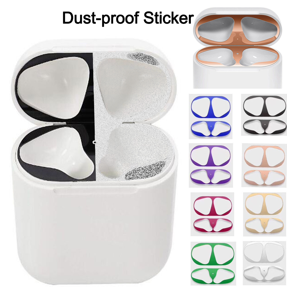 Ultra Thin Skin Protective Cover Metal Film Sticker Iron Shavings Dust Guard For AirPods Airpod Case Dust Guard Sticker
