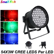 Stage Lighting China 54X3W CREE LED Par Light RGB 3IN1 Aluminum Alloy LED Flat Par Light Dj Party Christmas Decorations For Home(China)