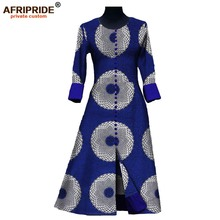 19 New autumn long dress for women AFRIPRIDE private custom african style full sleeve ankle-length vintage cotton dress A7225110 все цены