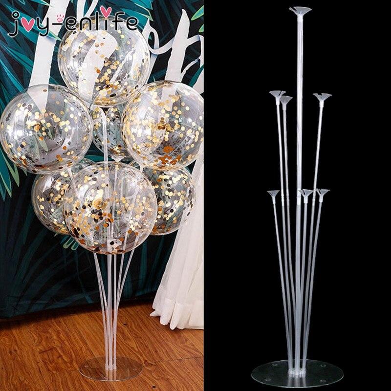7 Tubes ballons support ballon support colonne confettis ballon bébé douche enfants fête d'anniversaire mariage décoration fournitures