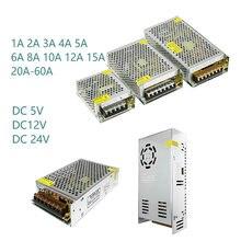 Питание 5 В, 12 В, 24 В постоянного тока, 1A 2A 3A 5A 6A 8A 10A 12A 15A 20A 25A 30A-60A трансформатор Led Питание 5 в возрасте от 12 до 24 Вольт 220 В до 12 В