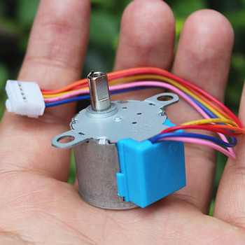 DC 12V 4-phase 5-wire Micro 24mm Stepper Motor Ratio 64:1 Small 24BYJ48 Deceleration Step Motor Gearbox Precision with Cable image