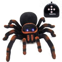 Remote Control Wall Climbing Spider Toys Simulation tarantula Eyes Shine smart black Spide Furry Electronic Spider Toy For Kids