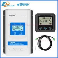 Epever duoracer mppt 10a 20a 30a carregador solar e controlador de descarregador 12v 24v regulador de bateria dupla automóvel para rv camper barco