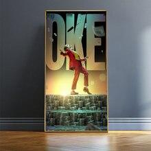 2020 Джокер хоакином Фениксом постеры на холсте комиксов постер