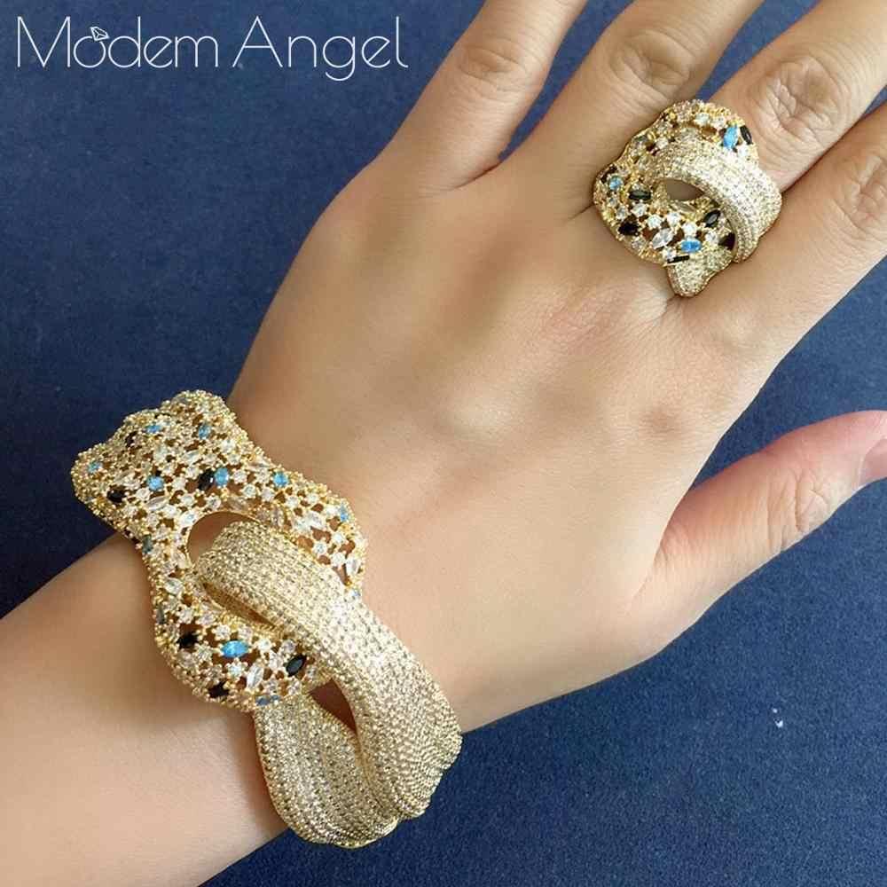Modemangel Nieuwste Beroemde Merk Luxe Kronkelende Kruis Geometrie Kubieke Zironia Cz Sieraden Sets Vrouwen Bruiloft Bridal Bangle Ring Set